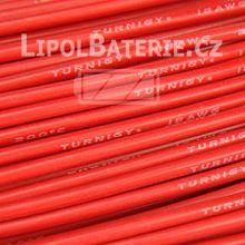 Kabel silicon 18 AWG červený