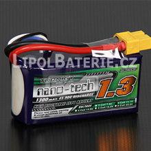 Lipol baterie Turnigy nano-tech 3S 1300mAh 45C 11.1V