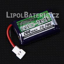 Lipol baterie Turnigy nano-tech 1S 260mAh 35C 3.7V