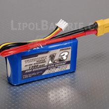 Lipol baterie Turnigy 2S 1300mAh 20C 7.4V