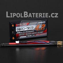 Lipol baterie Turnigy nano-tech Shorty 2S 4200mAh 65C 7.4V HARDCASE