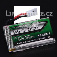 Lipol baterie Turnigy nano-tech Syma X5C 1S 750mAh 35C 3.7V