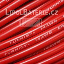 Kabel silicon 14 AWG červený