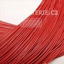 Kabel silicon 24 AWG červený