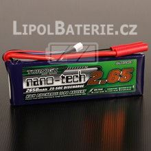 Lipol baterie Turnigy nano-tech 2S 2650mAh 25C 7.4V